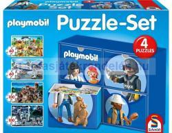 Schmidt Spiele Puzzle-Set 4 az 1-ben - Playmobil 2x60 és 2x100 db-os