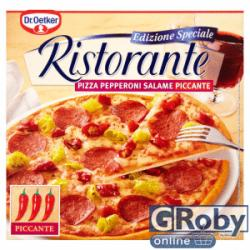 Dr. Oetker Ristorante gyorsfagyasztott szalámi-pepperoni pizza 320g