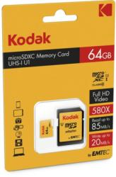 Kodak MicroSDHC 64GB UHS-I U1 EKMSDM64GXC10K