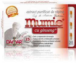 Damar General Trading Mumie cu Ginseng - Extract Purificat de Rasina - 30 comprimate