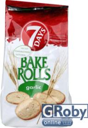 7 Days Fokhagymás Bake Rolls 80g