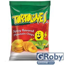 Tortolines Fűszeres zöldbanán chips 100g