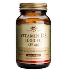 Solgar Vitamin D3 1000UI - 100 comprimate