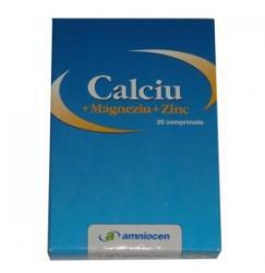 Amniocen Calciu+Magneziu+Zinc - 20 comprimate