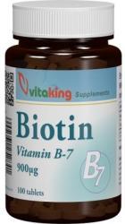 Vitaking Biotin Vitamina B7 - 100 comprimate
