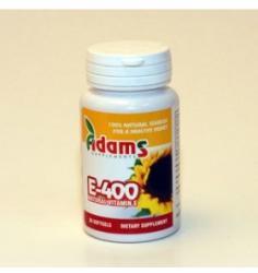 Adams Vision Vitamina E-400 naturala - 30 comprimate