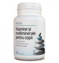 Alevia Vitamine si Multiminerale pentru copii - 30 comprimate
