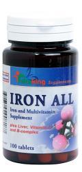Vitaking Iron All - Fier cu Vitamina B si C - 100 comprimate