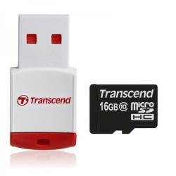 Transcend MicroSDHC 16GB Class 10 + P3 Card Reader TS16GUSDHC10-P3