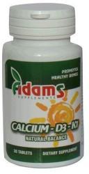 Adams Vision Calciu+D3+K1 vitamine - 30 comprimate