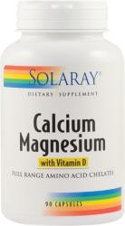 SOLARAY Calcium+Magnesium with Vitamin D - 90 caps