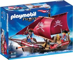 Playmobil Barca Soldatilor Cu Tun (PM6681)
