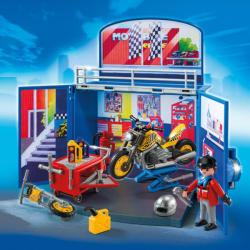 Playmobil Cutie De Joaca Atelierul Secret Pentru Motociclete (PM6157)