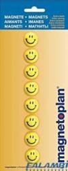 Magnetoplan Magneti whiteboard, D 20 mm, SMILEYS