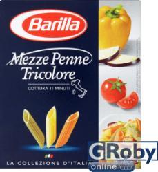Barilla Mezze Penne Tricolore 3 színű durum száraztészta 500g