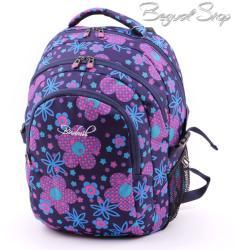 budmil lila-kék-virág mintás hátizsák (111149/S40)