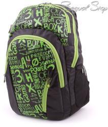 budmil fekete-zöld hátizsák (111206/S6)