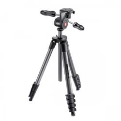 Manfrotto Compact Advanced tripod with 3-Way Head (MKCOMPADV-BK)