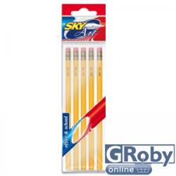 Sky Art Radírvégű grafit ceruza 5db/szett