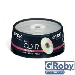 TDK CD-R80 52X írható 25db (T18767)