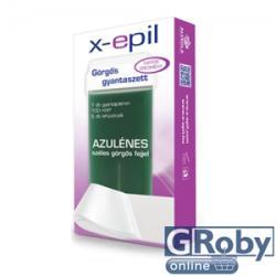 X-Epil Görgõs azulénes gyantaszett (1 patron+5 csík)