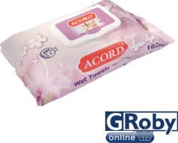 Acord Kupakos Baby Törlőkendő 102db
