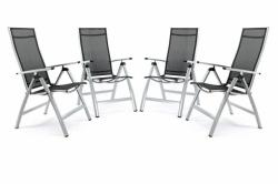 4db luxus alumínium, extra széles, állítható szék