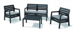 Curver Delano Set kerti bútor garnitúra - 1db asztal, 1db kanapé, 2db szék