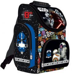 UNIPAP Star Wars VII - ergonómikus iskolatáska, 36x28x17cm - kék (221682)