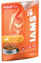 Iams Adult Chicken 66x100g