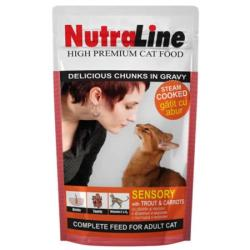 NutraLine Sensory Trout & Carrot 24x100g