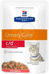 Hill's PD Feline C/D Urinary Stress Salmon 12x85g