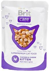Brit Care Pouches Chicken & Cheese Kitten 24x80g