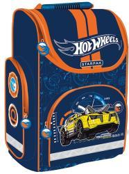 Starpak Hot Wheels sárga autó - ergonómikus iskolatáska, 37x27x14 (348705)