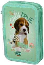 Lizzy Card Pet Beagle kiskutyás 2 emeletes tolltartó - világoszöld (16343002)
