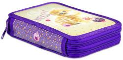 Lizzy Card Pet cicás 2 emeletes tolltartó - lila (16343001)