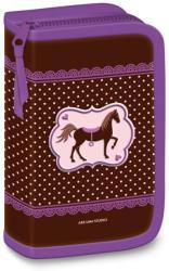Ars Una My Horse - lovas cipzáros kihajtható tolltartó - lila-barna (92796782)