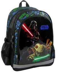 DERFORM Star Wars: Darth Wader és Yoda - iskola hátizsák, 38x29x16cm (PL15SW10)