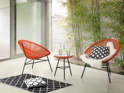 Beliani Acapulco kerti bútor szett (asztal és 2db szék)