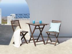 Beliani Fiji kerti fa bútor szett - akác asztal és 2db szék