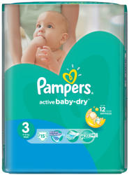 Pampers Active Baby-Dry 3 Midi (4-9kg) 15db