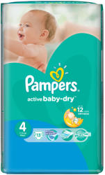 Pampers Active Baby-Dry 4 Maxi (7-14kg) 13db