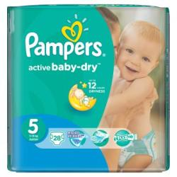 Pampers Active Baby-Dry 5 Junior (11-18kg) 28db