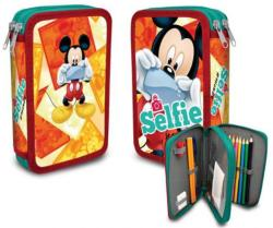 Disney Mickey 2 emeletes, töltött tolltartó