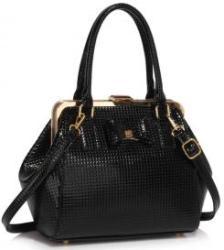LeeSun Fémkeretes fekete lakk táska - Ruth