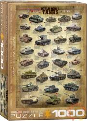 EUROGRAPHICS World War II Tanks 1000 db-os (6000-0388)