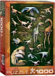 EUROGRAPHICS Feathered Dinosaurs 1000 db-os (6000-0072)