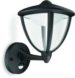 Massive - Philips myGarden - Robin kültéri falikar, mozgásérzékelővel, fekete 15479/30/16