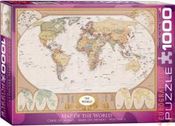 EUROGRAPHICS Map of the World 1000 db-os (6000-1272)