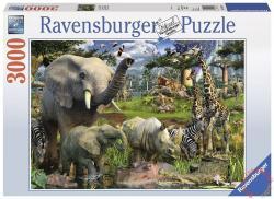 Ravensburger Állatok a víznyelőnél 3000 db-os (17070)